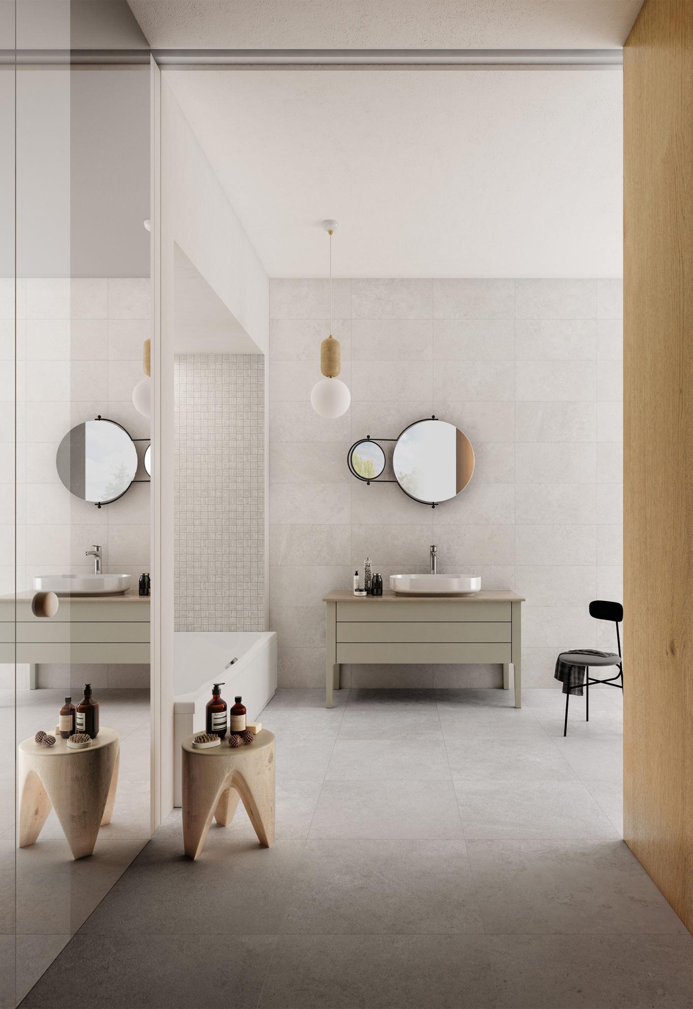 Rendering di un bagno minimale
