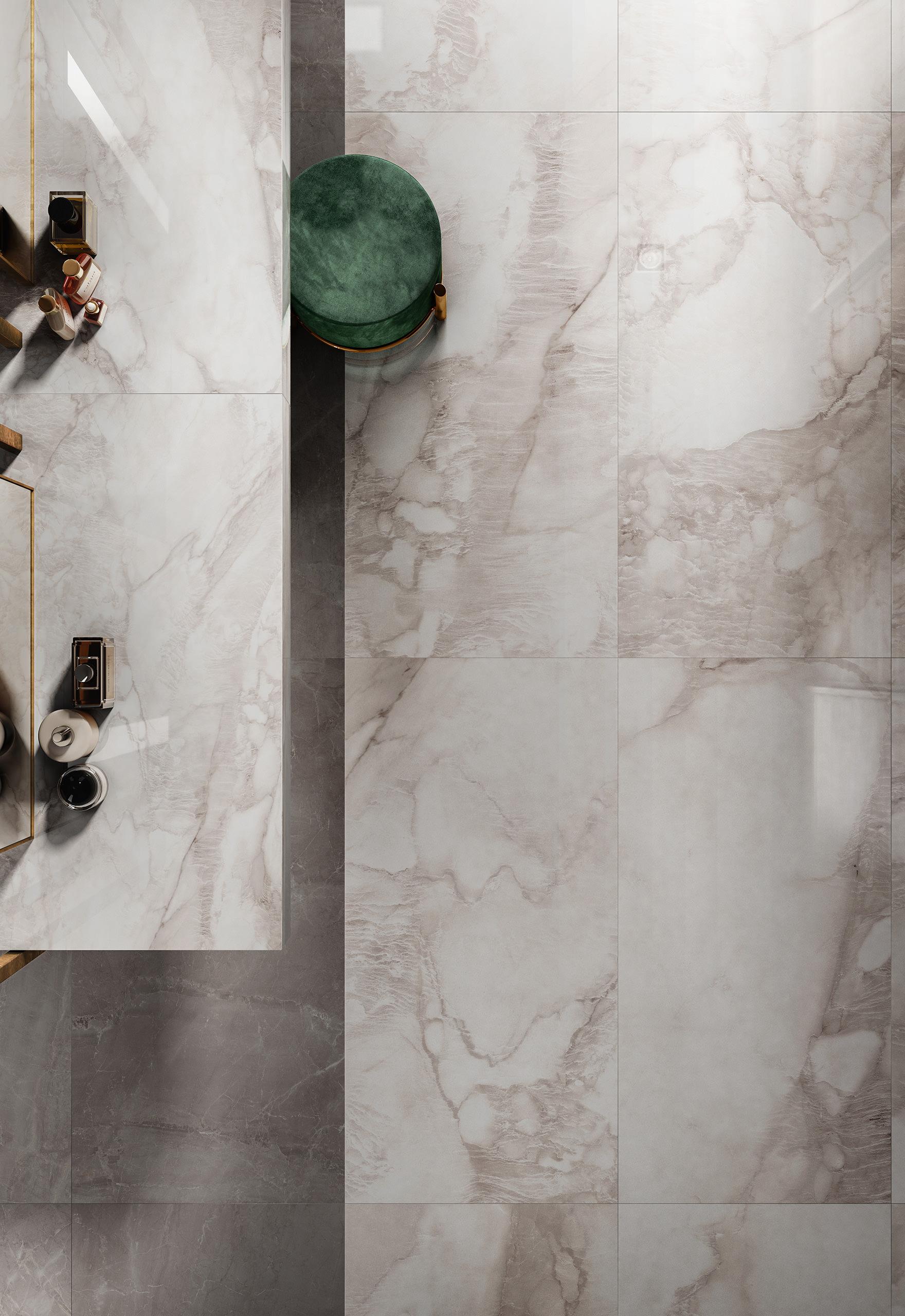 Rendering ceramica interni Valentino bagno dettaglio