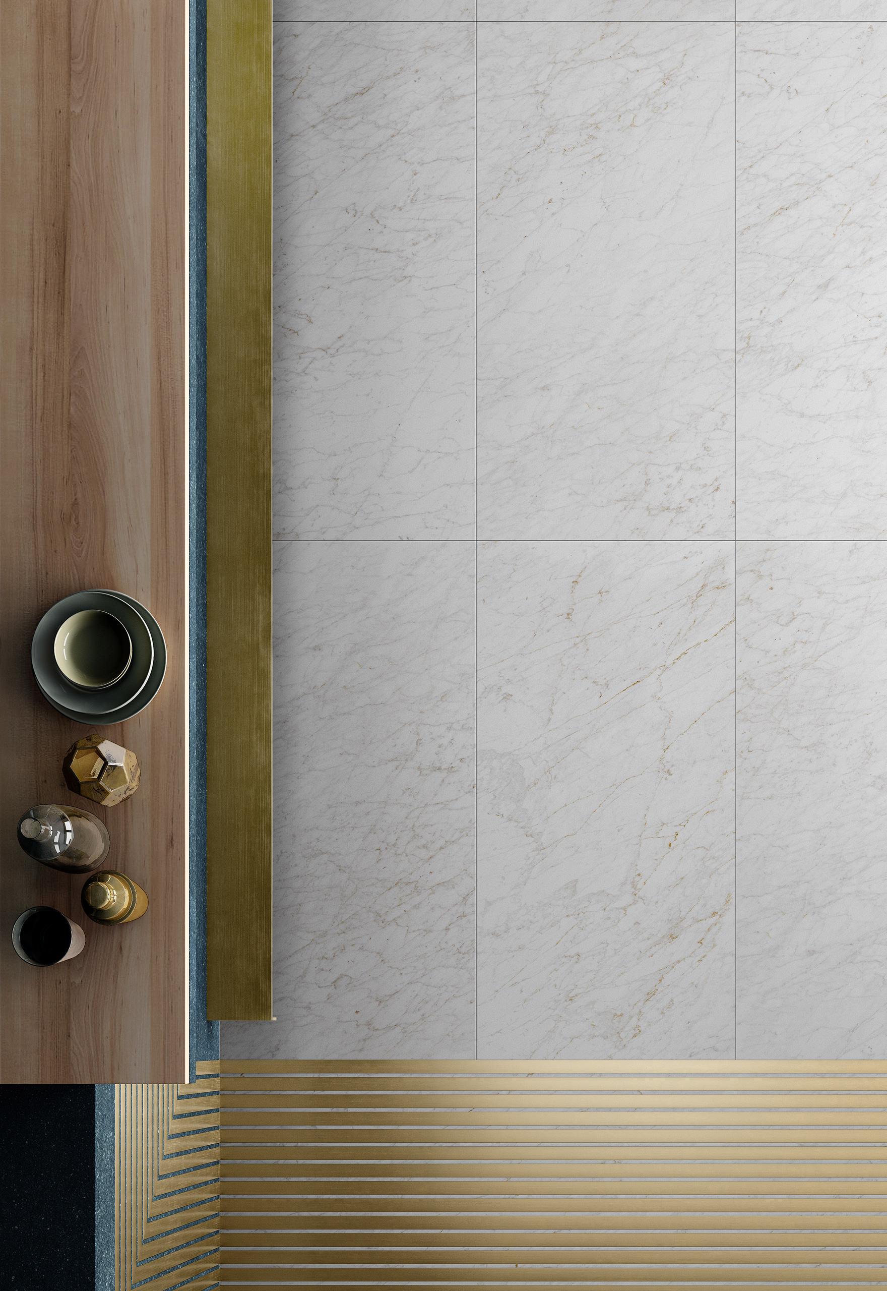Rendering interno con ceramica Valentino in cucina dettaglio