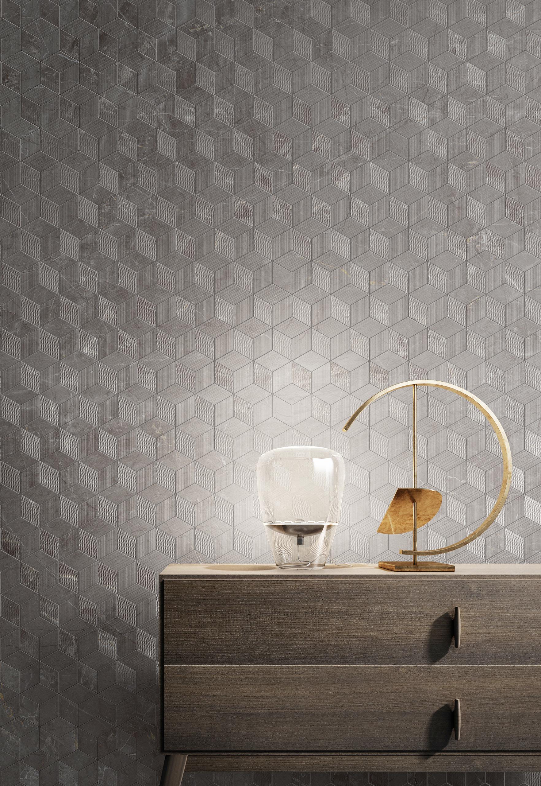 Rendering ceramica interni Valentino living