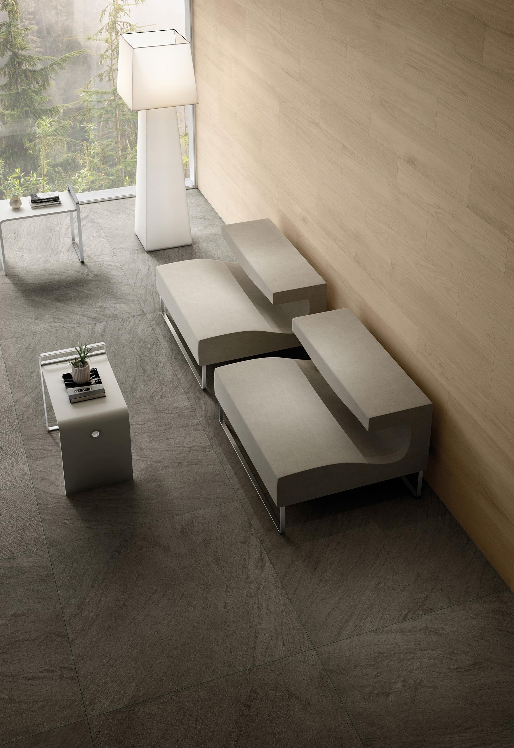 Rendering esterni interni fotorealistici Caesar living sedie