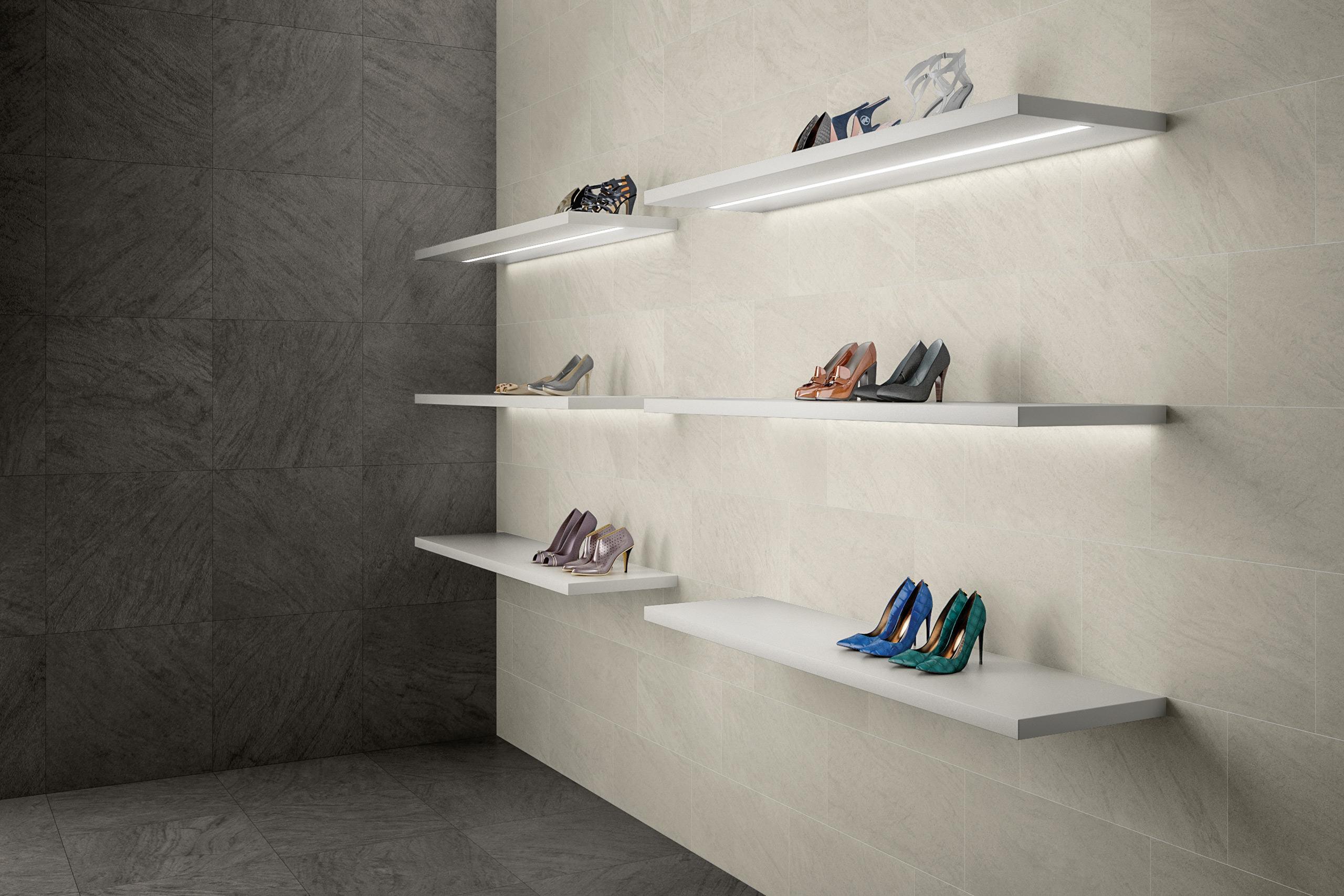 Rendering esterni interni fotorealistici Caesar negozio calzature 2