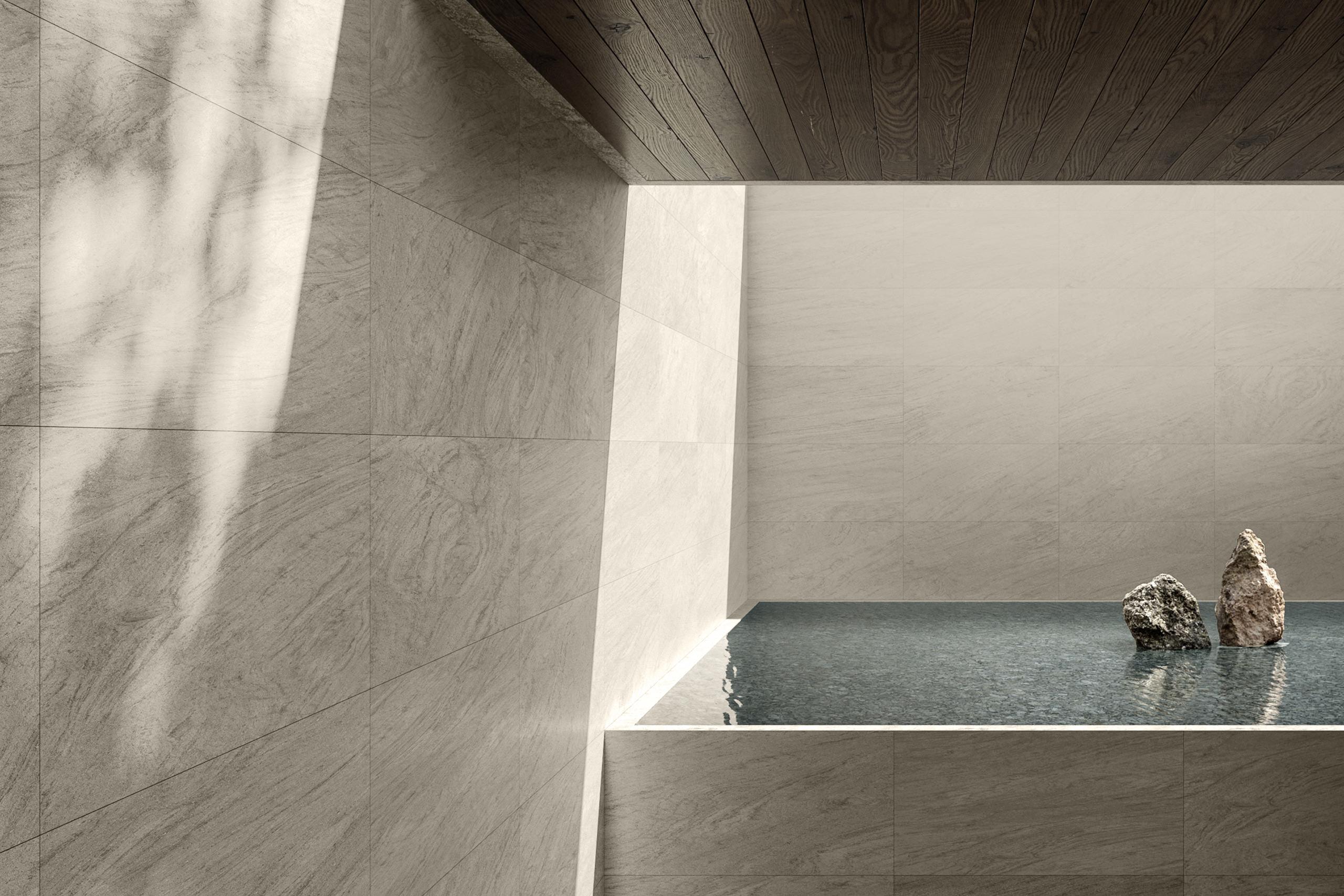 Rendering esterni interni fotorealistici Caesar piscina 2